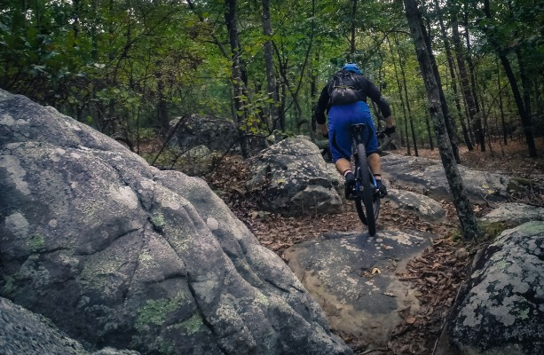 The Boulder trail is aptly named, with boulder after boulder after boulder to crawl over and creep down