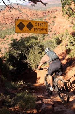 Rider: Matt Mcfee, Hermosa Tours. Trail: Hiline, Sedona, Arizona. Photo: Greg Heil.