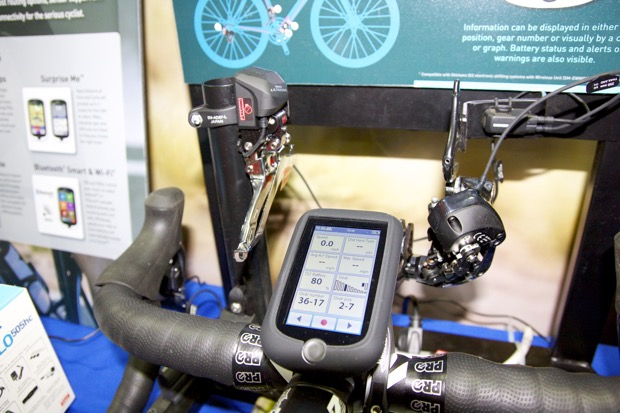 The Cyclo 505 can be used to wirelessly control Shimano's Di2 electronic shifting system.
