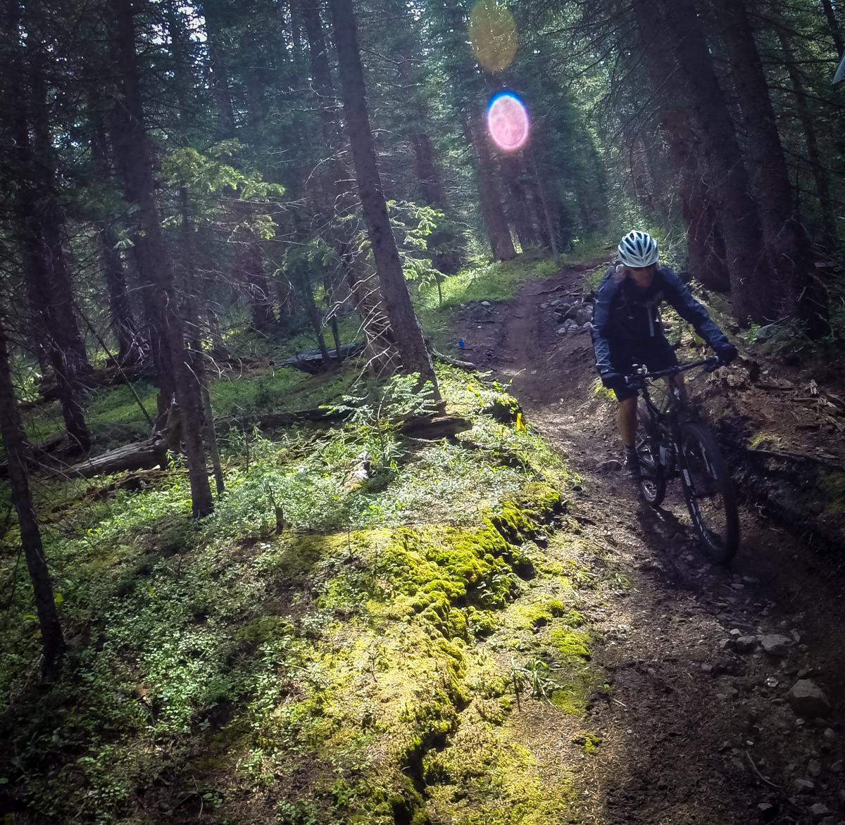 Trail: Green's Creek, Salida, Colorado. Rider: Jeff. Photo: Delphinide.