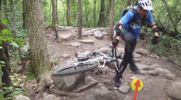 Lowering a seatpost in a rock garden - photo 4