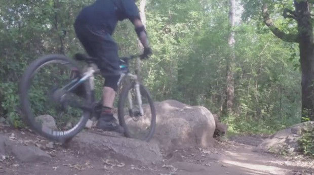 Lowering a seatpost riding over a rock - photo 1