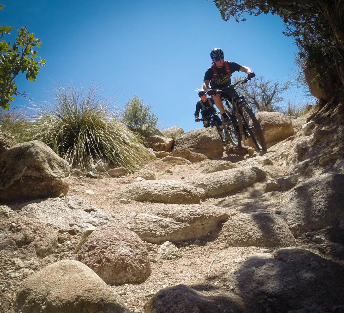 """""""jkldouglas showing me the local lines in the north foothills trails."""" ABQ, NM. Photo: Delphinide."""