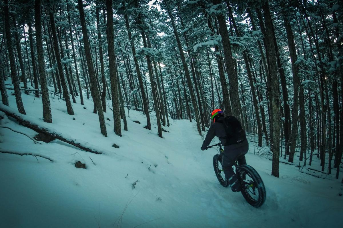 """""""Descending Chimney on a fatty in knee deep powder after several days of dumping."""" Golden, CO. Photo: Delphinide."""