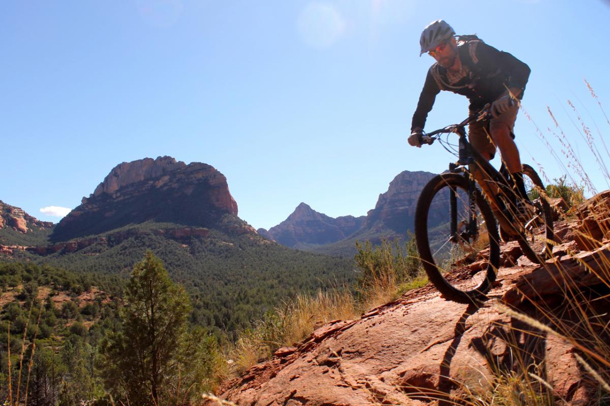 Upper Dry Creek Area, Sedona, Arizona. Rider: Matt McFee, Hermosa Tours. Photo: Greg Heil