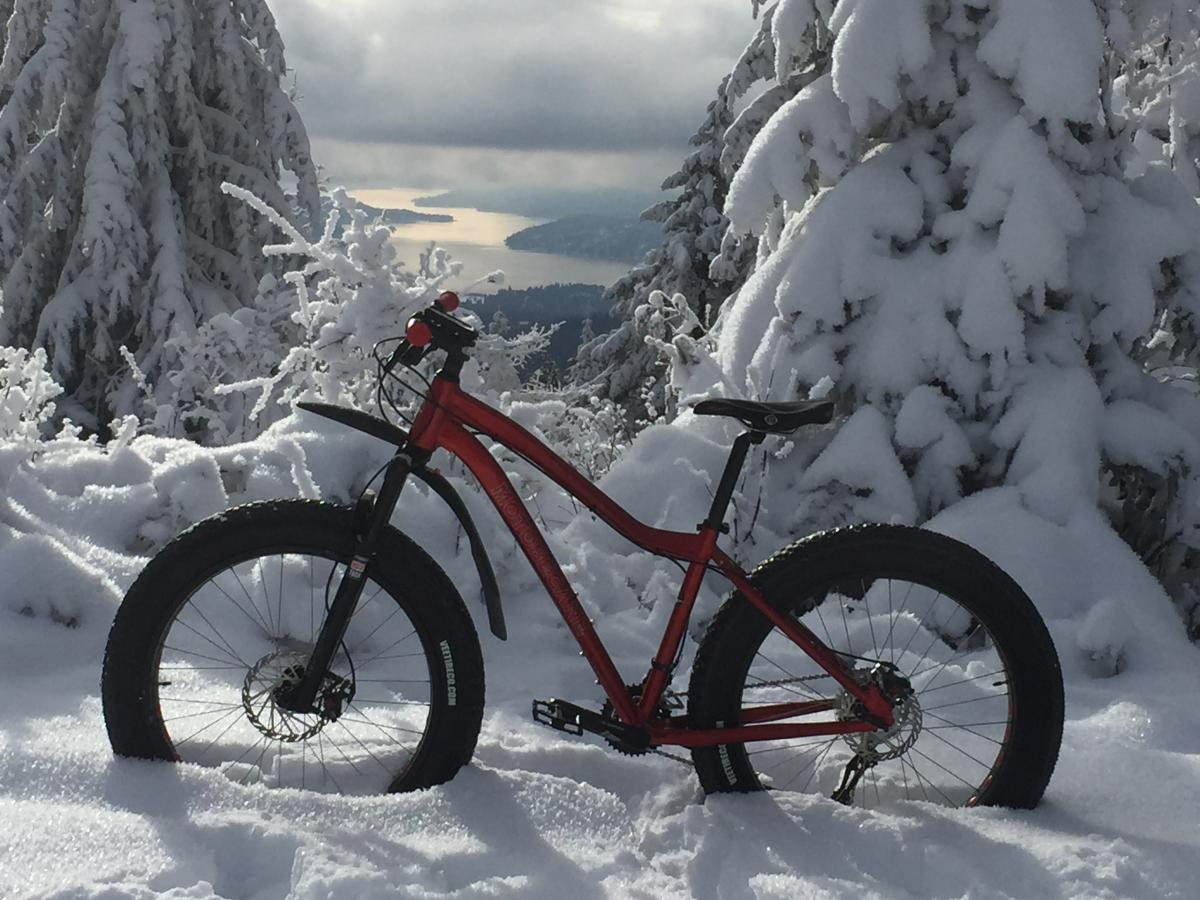 """Fat Biking on New Years Day."" Idaho. Photo: Ken L Mills."