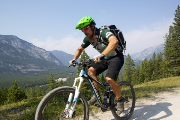 Singletracks.com Editor in Chief Greg Heil on assignment in Banff, Alberta.