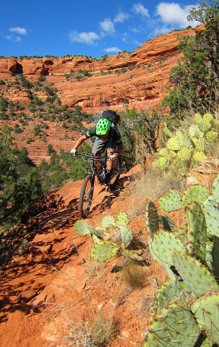 Mescal Trail, Sedona, Arizona. Photo: Matt McFee, Hermosa Tours. Rider: Greg Heil