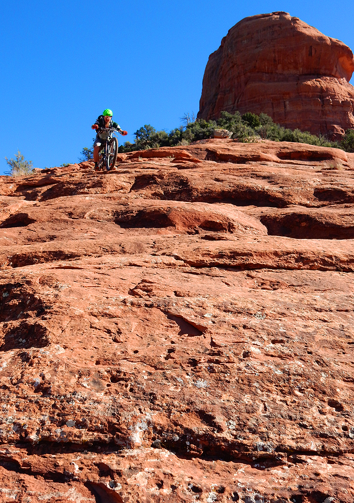 If you fall up top you will rag doll for a long ways! Photo: Matt McFee