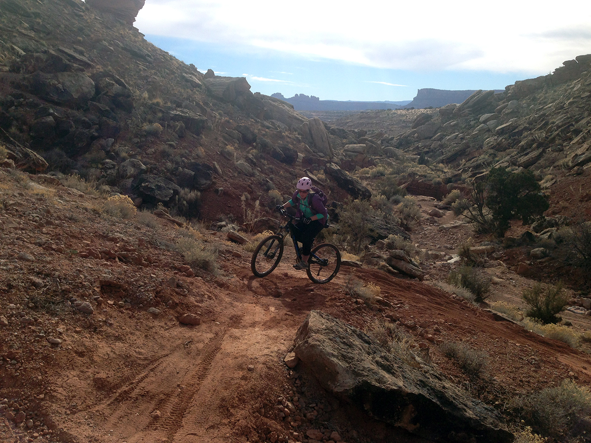 Switchback practice opportunities are easy to find at the Klonzo trails.