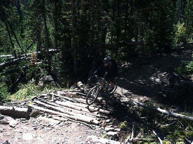 Bunker Creek in Brian Head, Utah is a challenging singletrack ride.  This is our only photo from the entire 12 miles.