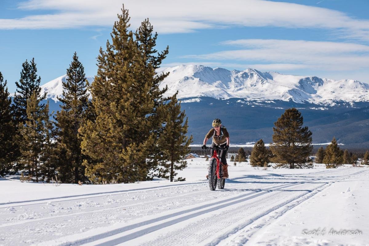 Mineral Belt Trail, Leadville, Colorado. Rider: Nancy Anderson. Photo: Scott Anderson.