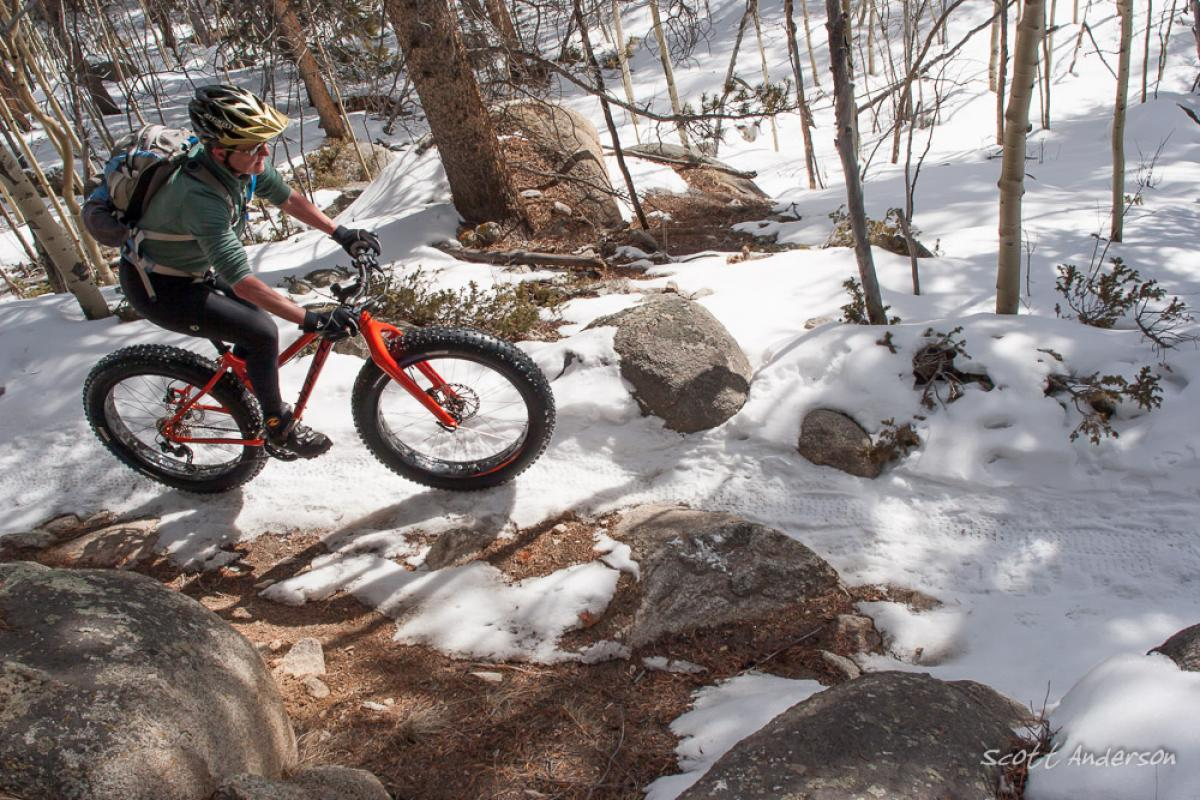 Poplar Gulch, St. Elmo, Colorado. Rider: Nancy Anderson. Photo: Scott Anderson.