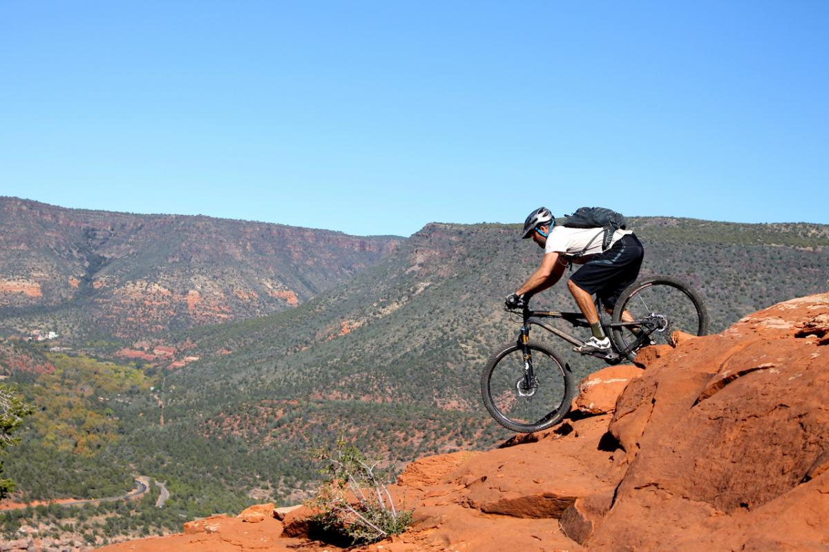 Hangover Trail, Sedona, Arizona. Rider: Matt McFee, Hermosa Tours. Photo: Greg Heil