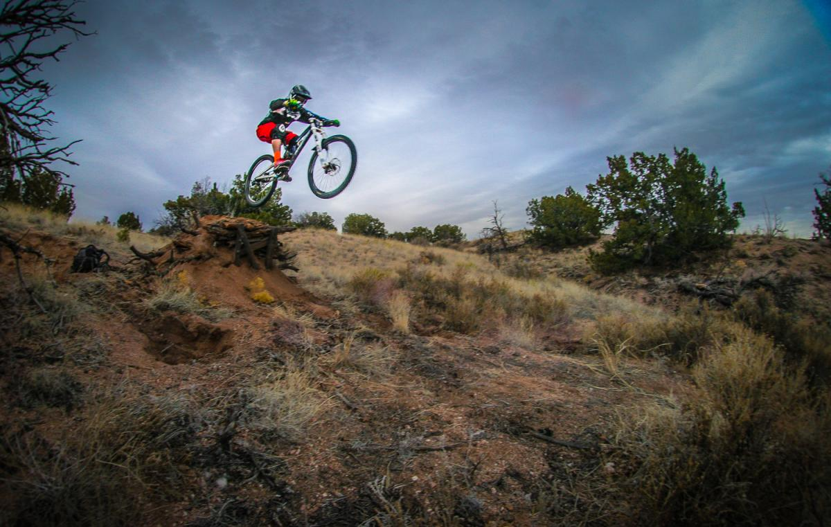 Freeriding the desert Southwest, New Mexico. Photo: Jerry Hazard