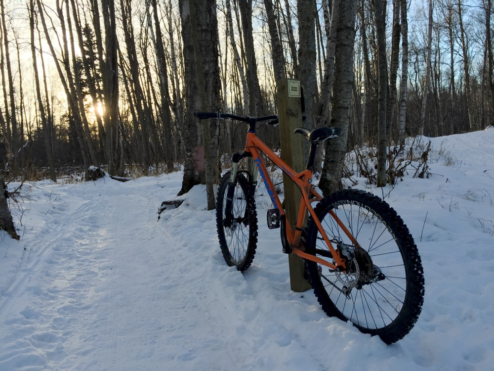 In spite of the frigid weather, Kincaid's trails were still well-tracked.