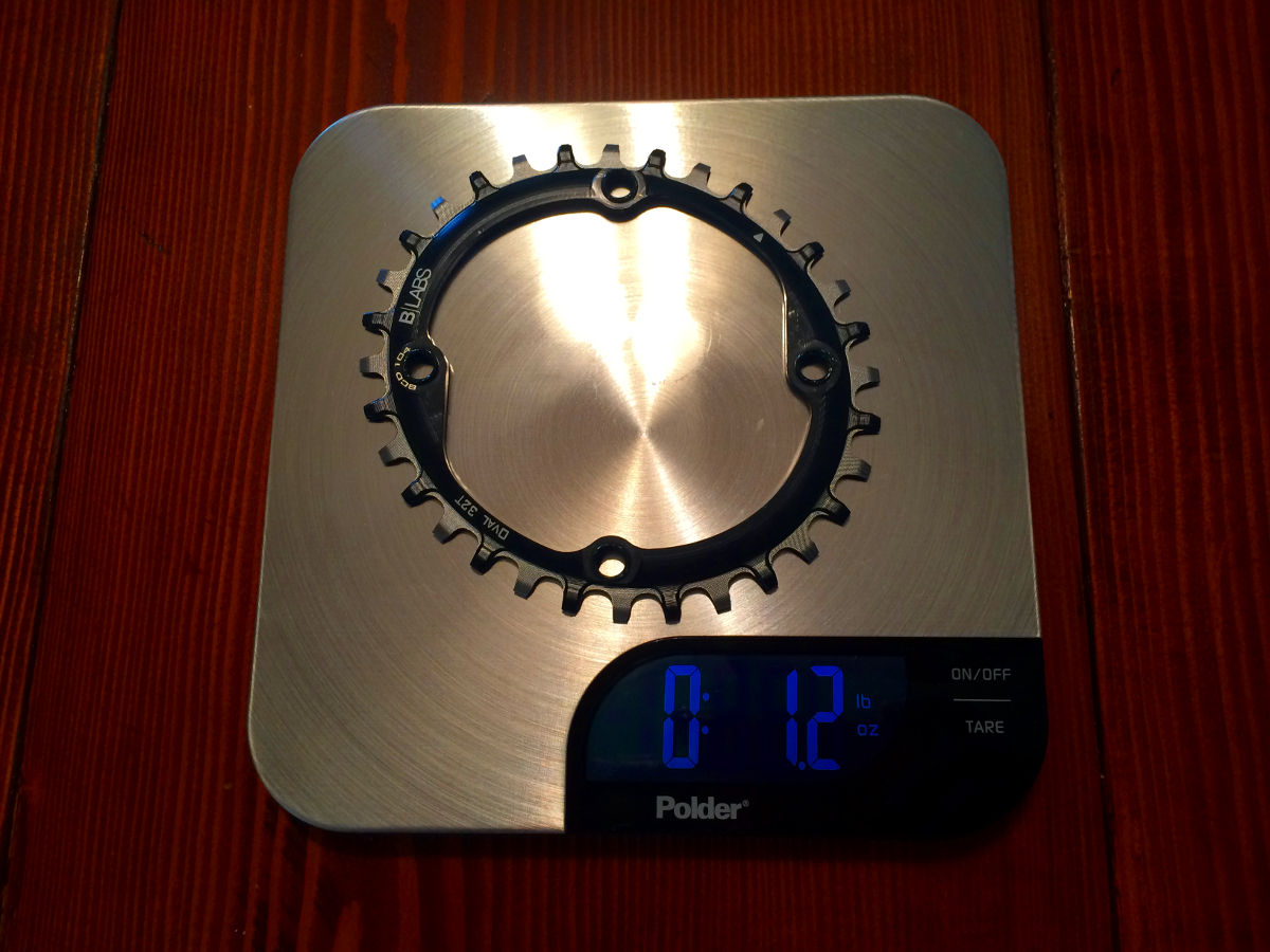 The B-Ring OVAL chainring weighed in less than claimed on B-Labs website. A very important note for all the weight weenies.