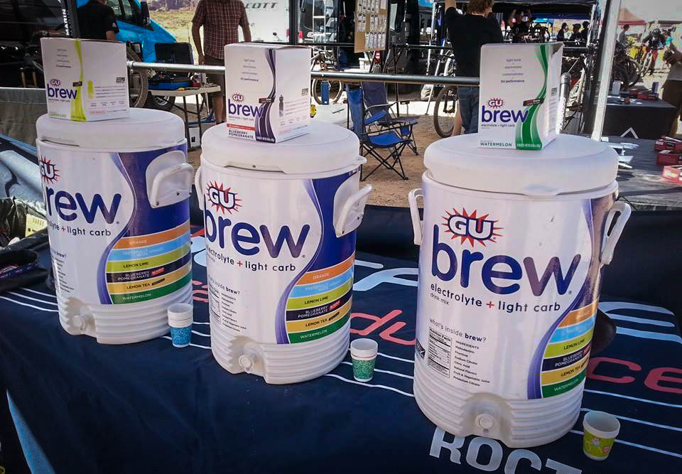 Nuun and Gu were on hand with a rainbow of different flavors to sample