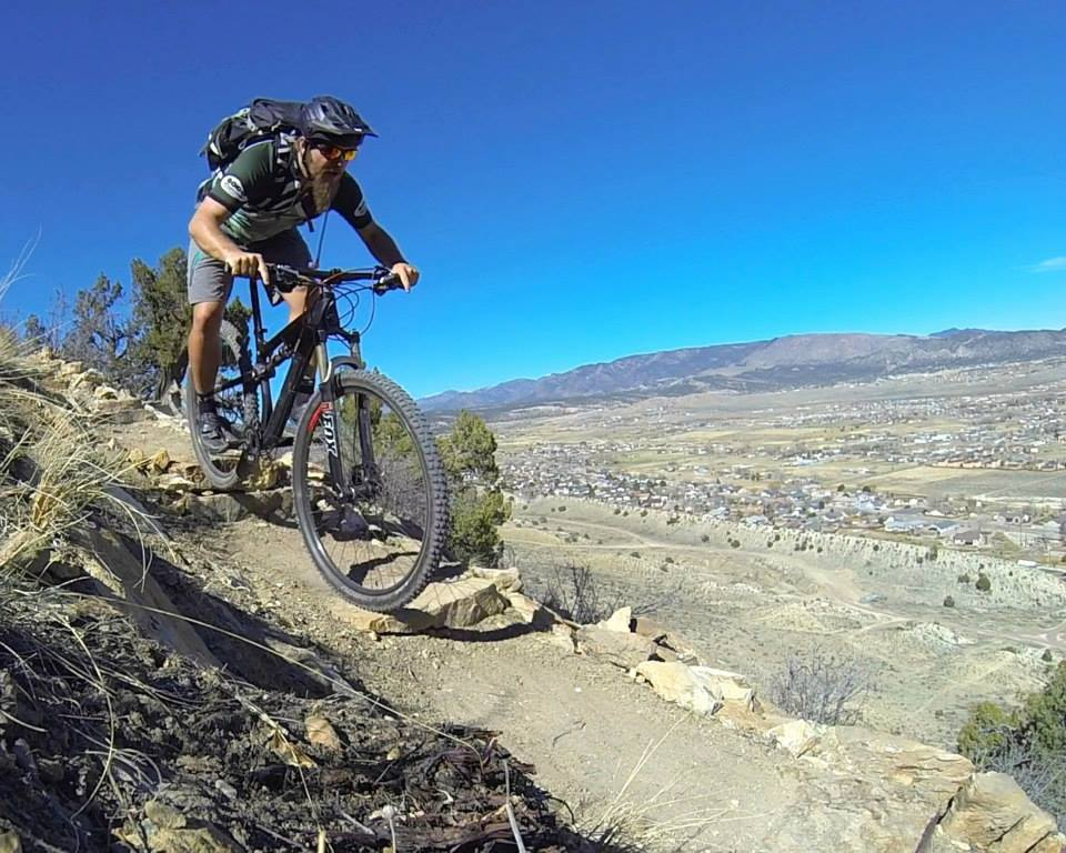 One of my first trail discoveries of 2015: brand-new singletrack in Canon City.