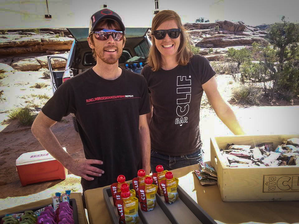 Jason and Tara of CLIF were kind enough to set up a tend with hydration refreshments and free products to try along the Mag 7 shuttle ride, a welcome encounter on a hot da.