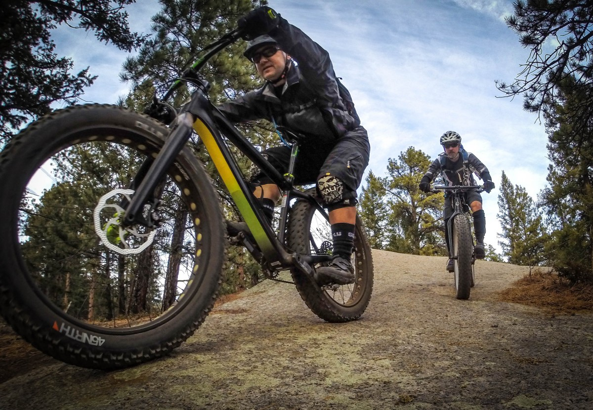Even if you're not riding a fatbike in the winter, cold weather dictates the need for cold weather gear. Photo by: Michael Paul