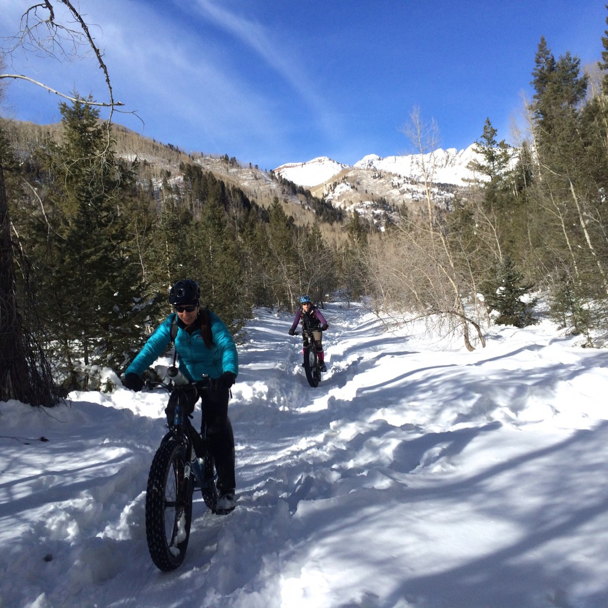 Snow bikers of all abilities enjoy La Plata Canyon's frozen goodness.
