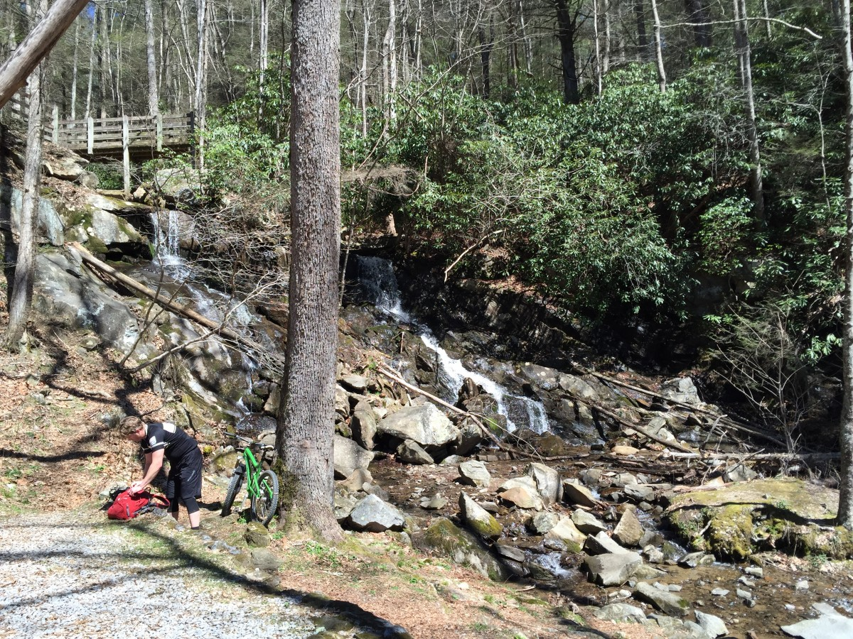 Barnes Creek Falls at mile 4
