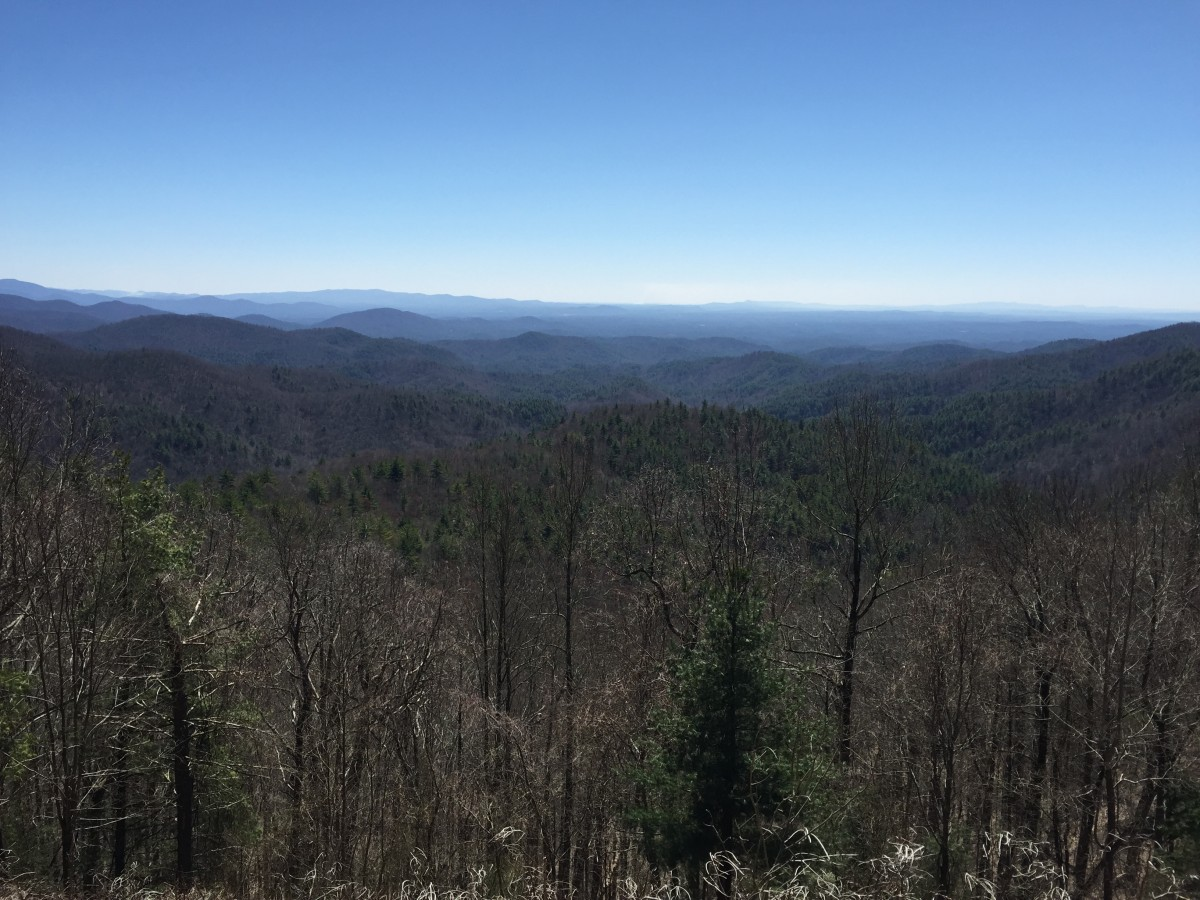 The view from the Mountaintown Overlook