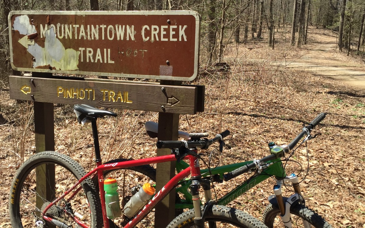 The start of Mountaintown Creek