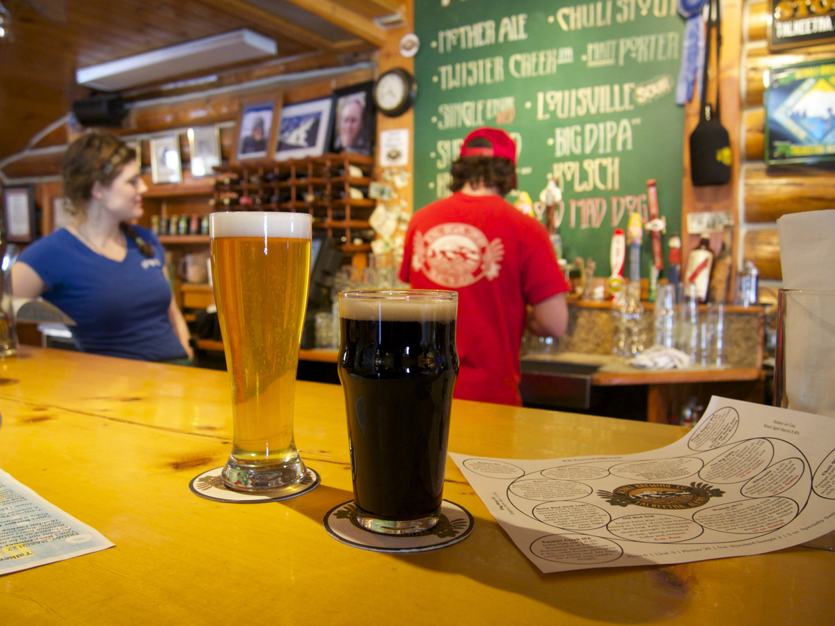 Be sure to stop by the Twister Creek Restaurant to sample some of Denali Brewing Company's brews