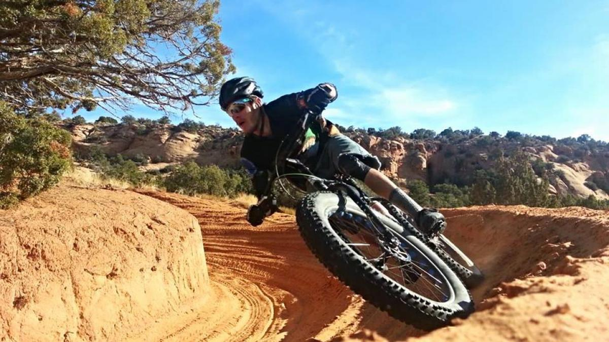 """Moab sand berm on the Pugsley."" Photo: David J Glover."