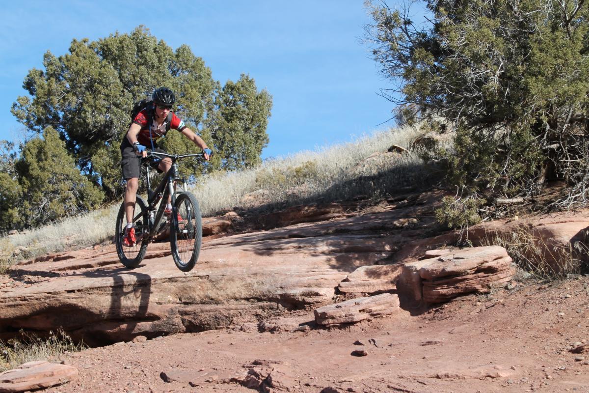 Mary's Loop/Horsethief Bench, Fruita, Colorado. Rider: Kyle Fisch. Photo: John Fisch