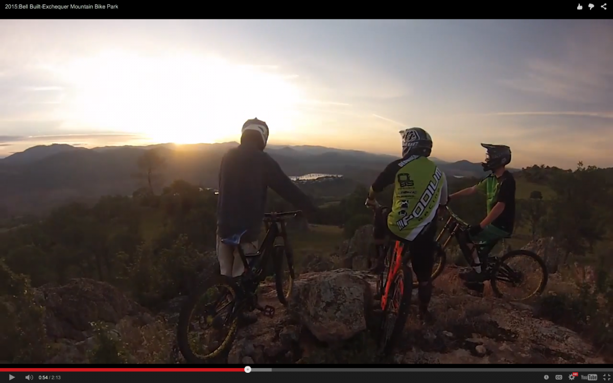 Exchequer Bike Park overlooking Lake Mclure