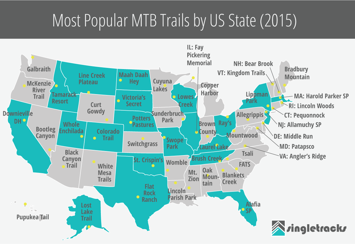 The Most Dangerous Mountain Bike Trails In The World - Black widow us map