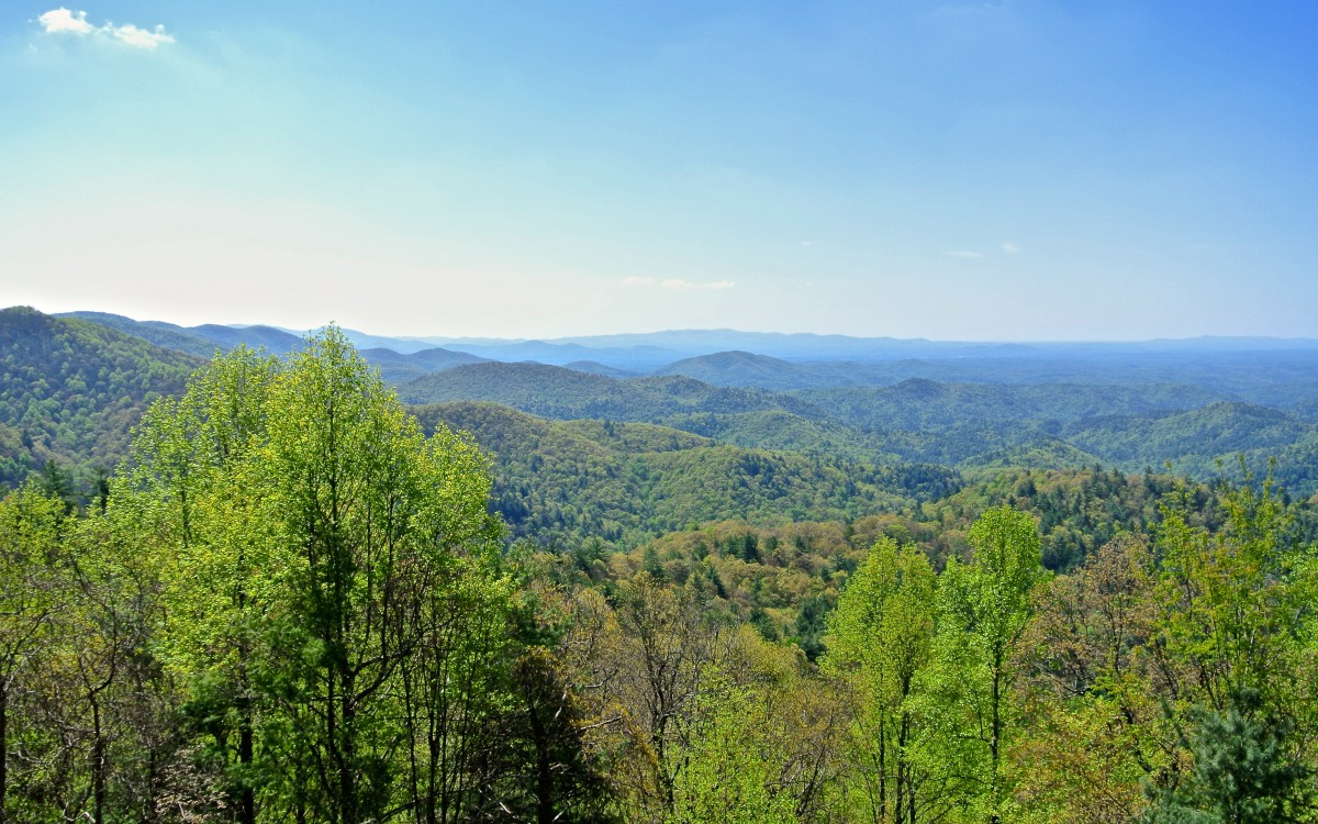 Looking southeast from the Mountaintown Overlook