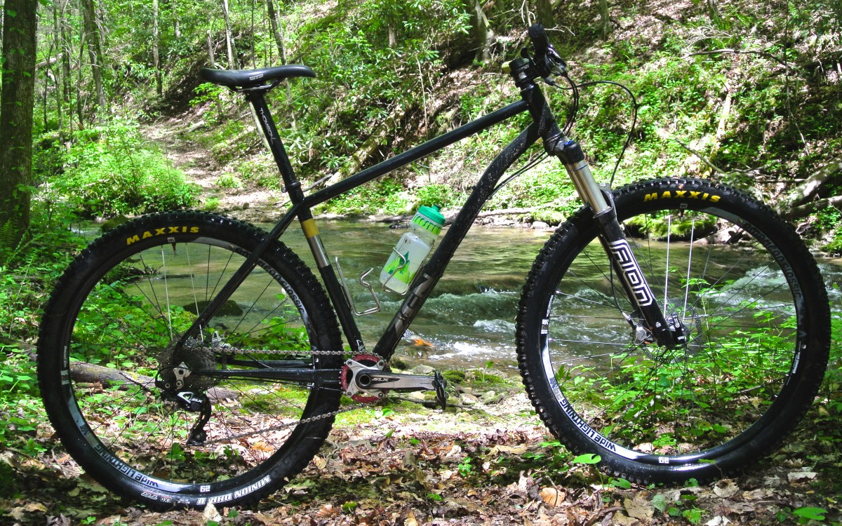 The steel Zen TRAIL frame, made in the US
