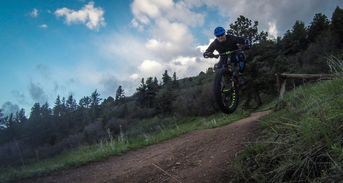 Flying fatbike at warp speed. That is all.
