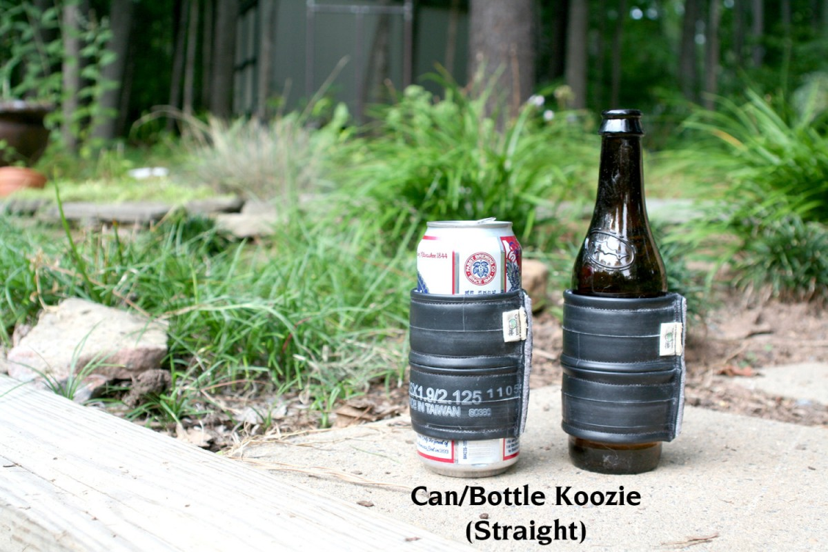 Crookedoakdesign has found a way to upcycle those old bike tubes AND keep your beverages cold.