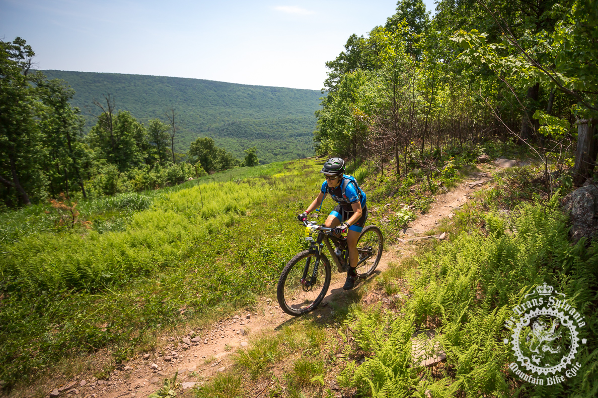 Karen Talley Mead enjoying the views on Tussey Ridge (image courtesy TSEpic Media Team)