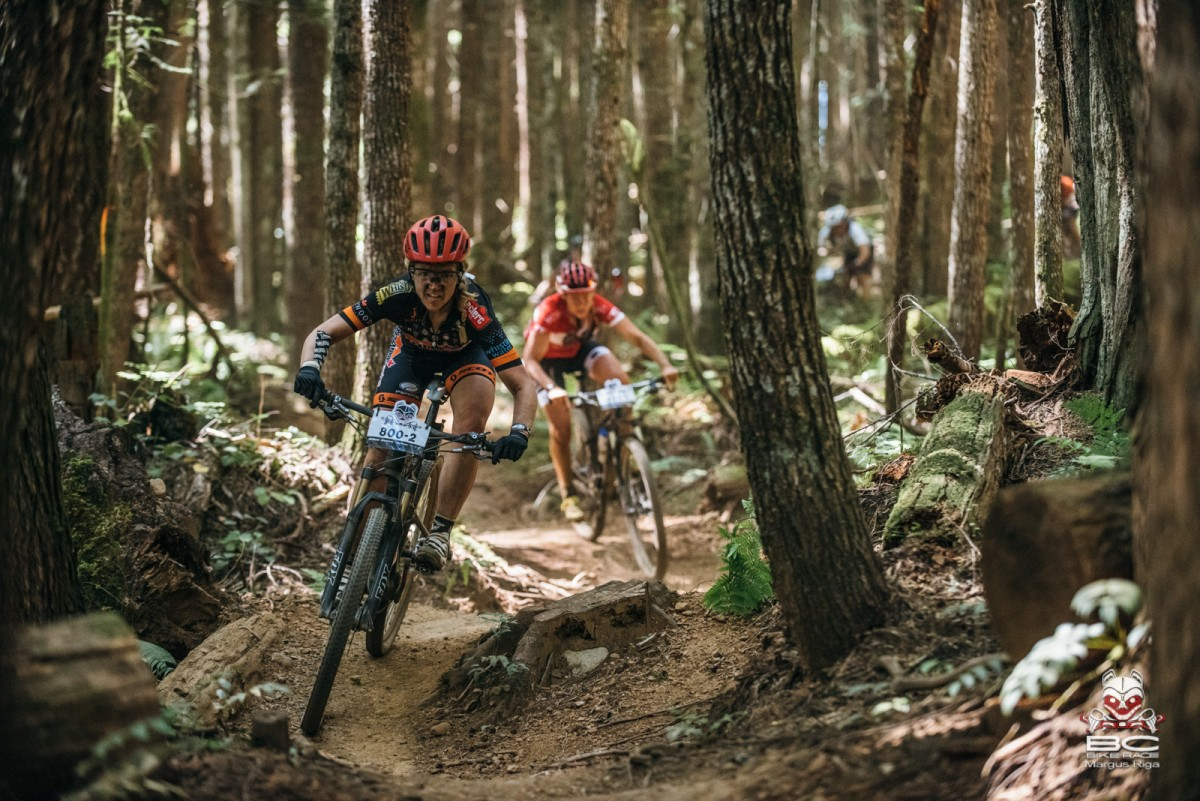 There is a strong contingent of women out ripping the trails this year (photo BCBR)