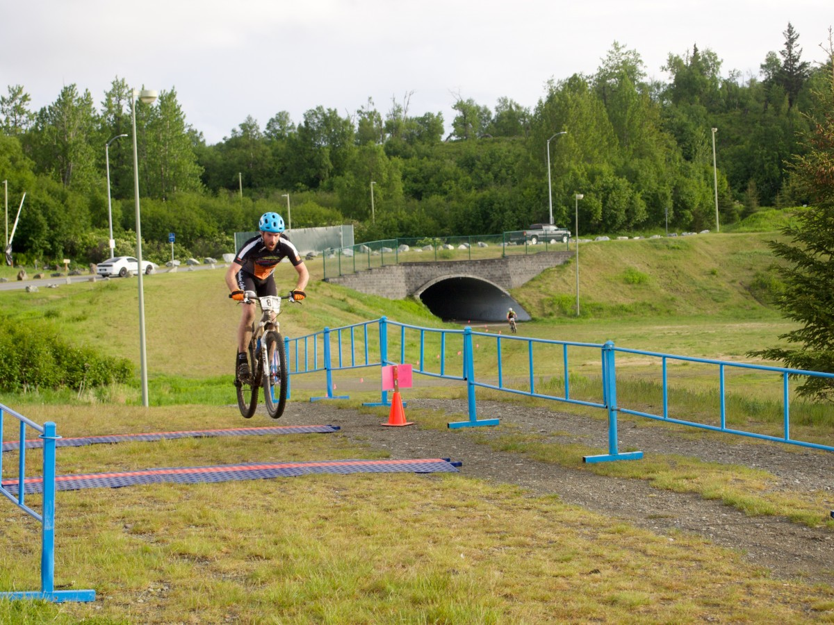 Airing it out across the finish line, sadly no bonus points were awarded for style