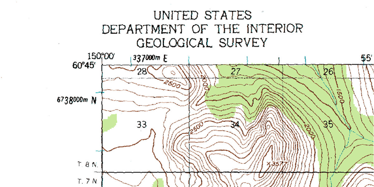 Upper lefthand corner of the Seward C-8 USGS map