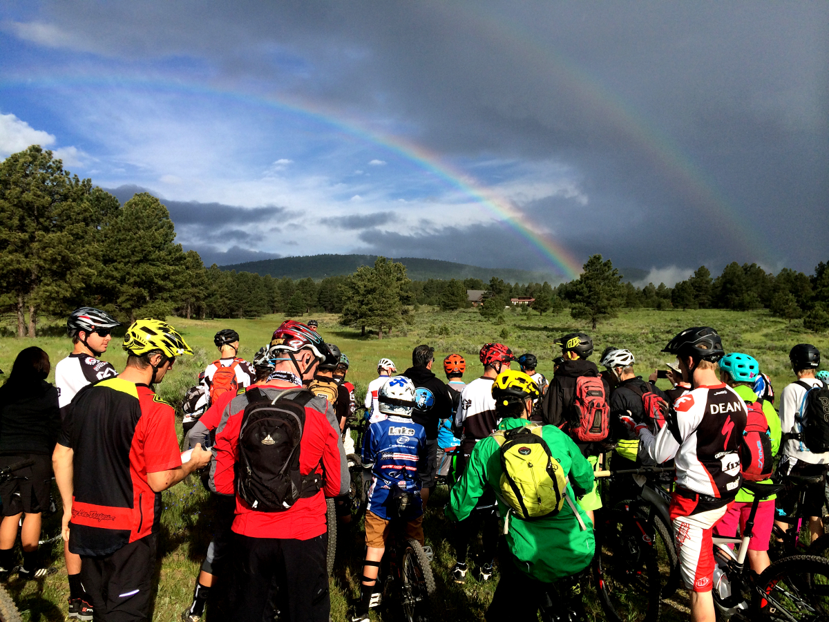 Double rainbows are always a good omen prior to a race.