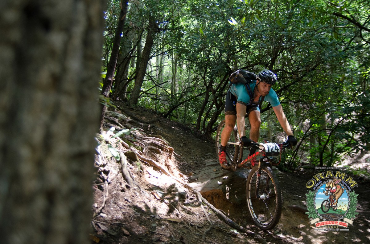 A racer nailing the tougher, left line on Star Gap (photo: Icon Media Asheville)