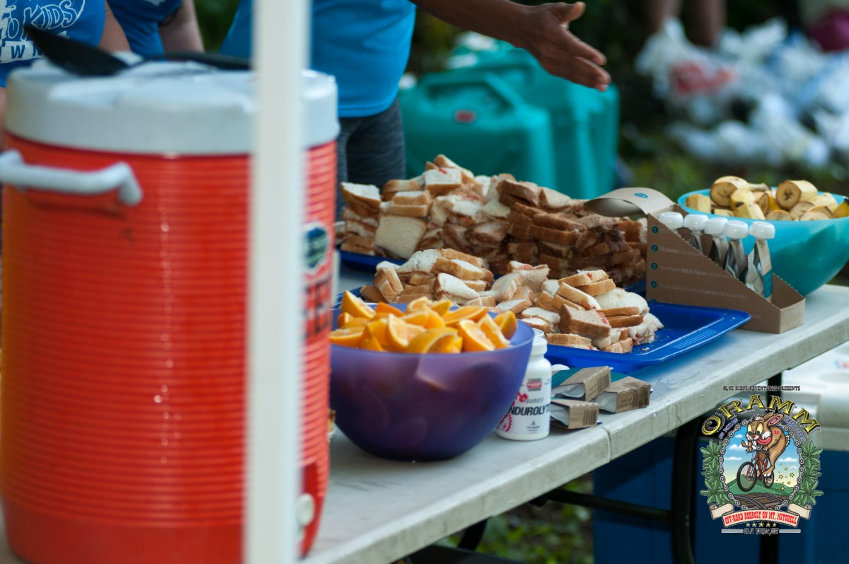 I took advantage of the well-stocked aid stations (photo: Icon Media Asheville)