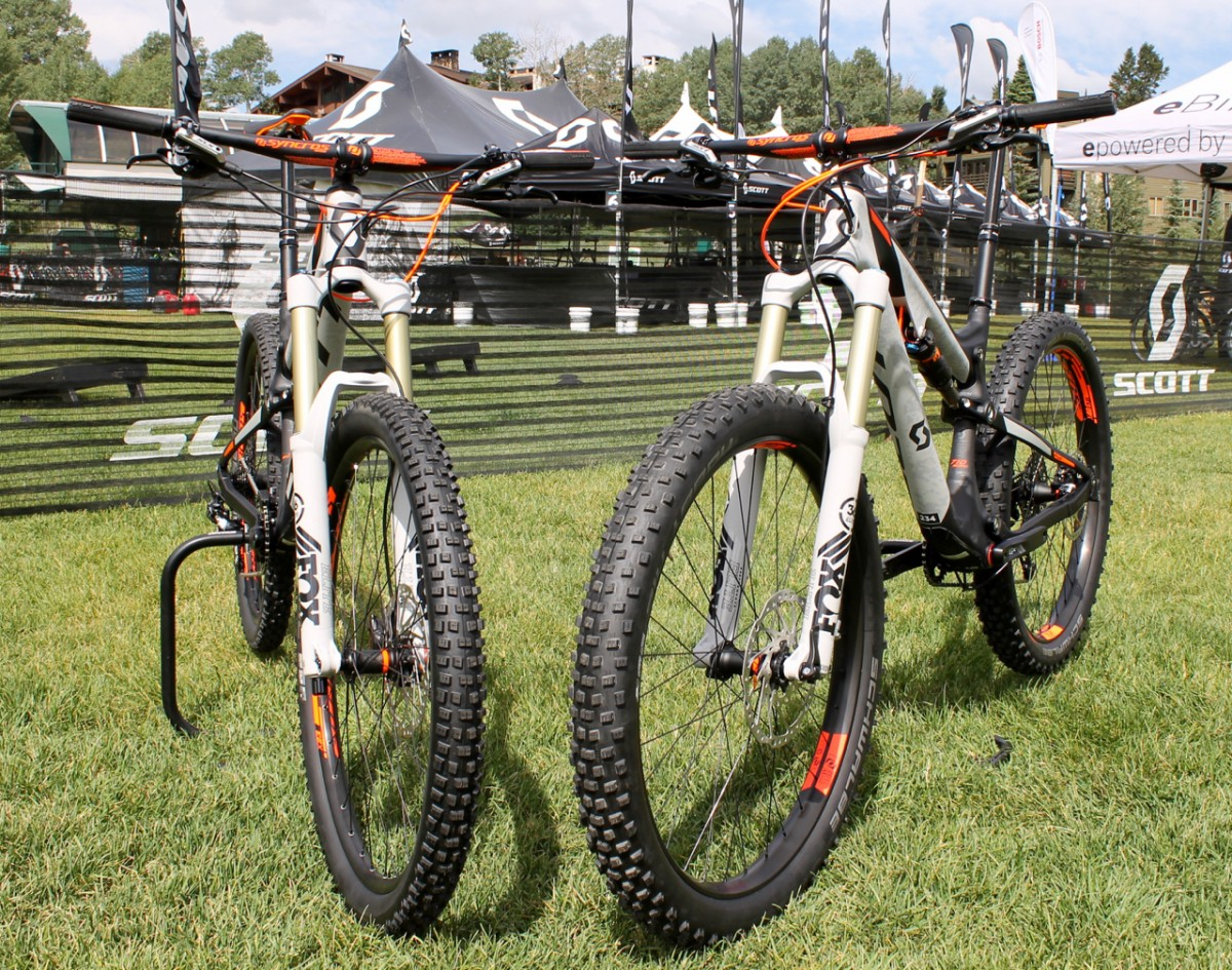 Standard 27.5 (left) and 27.5+ (right)