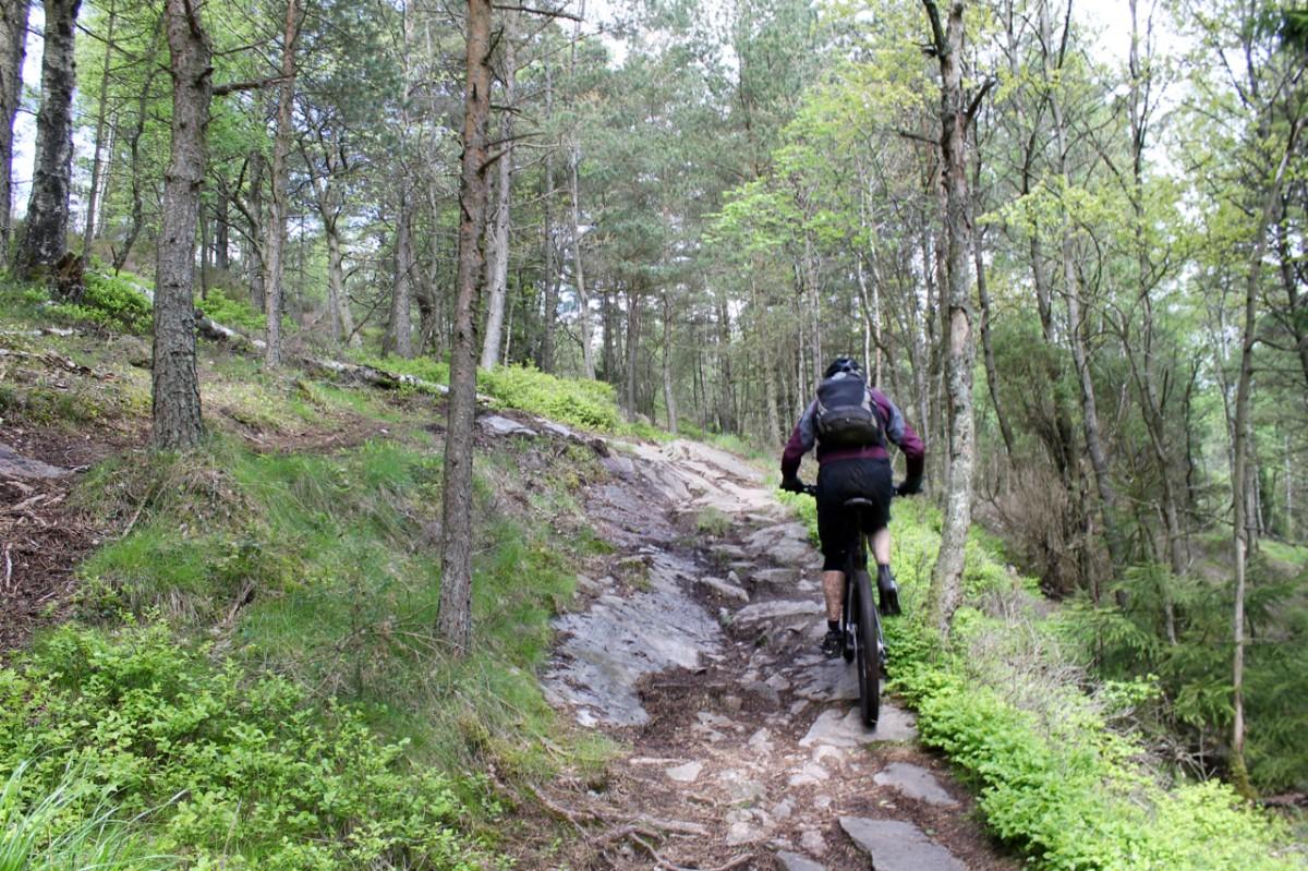 The climbs are technical, too. Rider: Leo Ranta. Photo: Greg Heil.