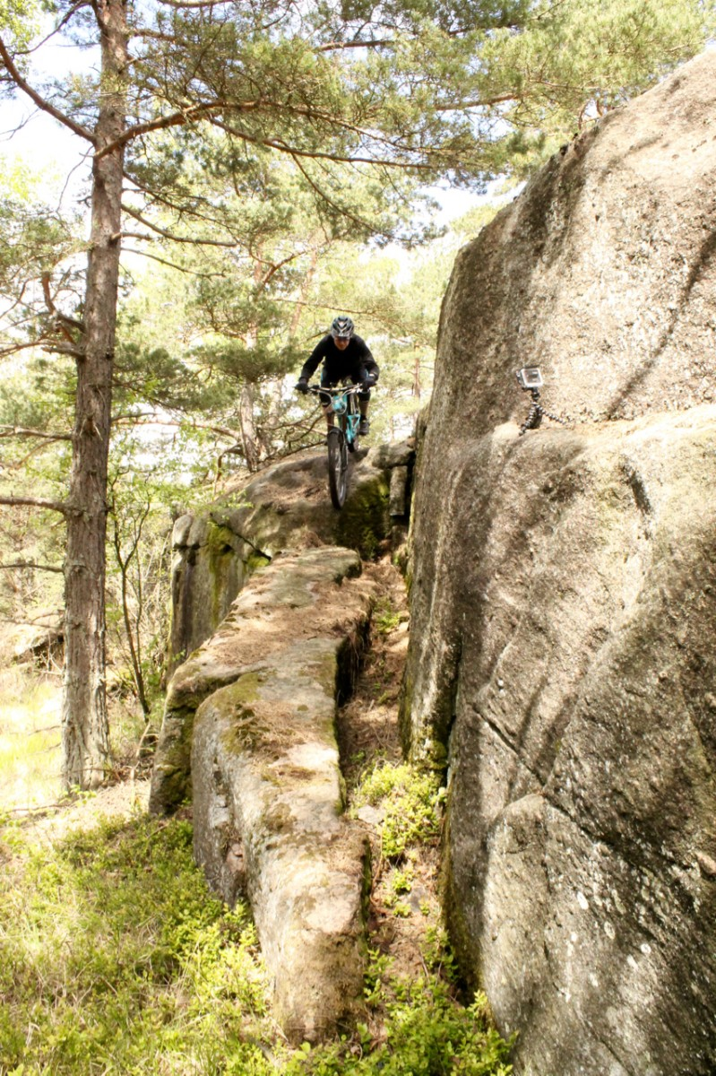 Technical challenge on the Blueberry Trail. Rider: Leo Ranta. Photo: Greg Heil