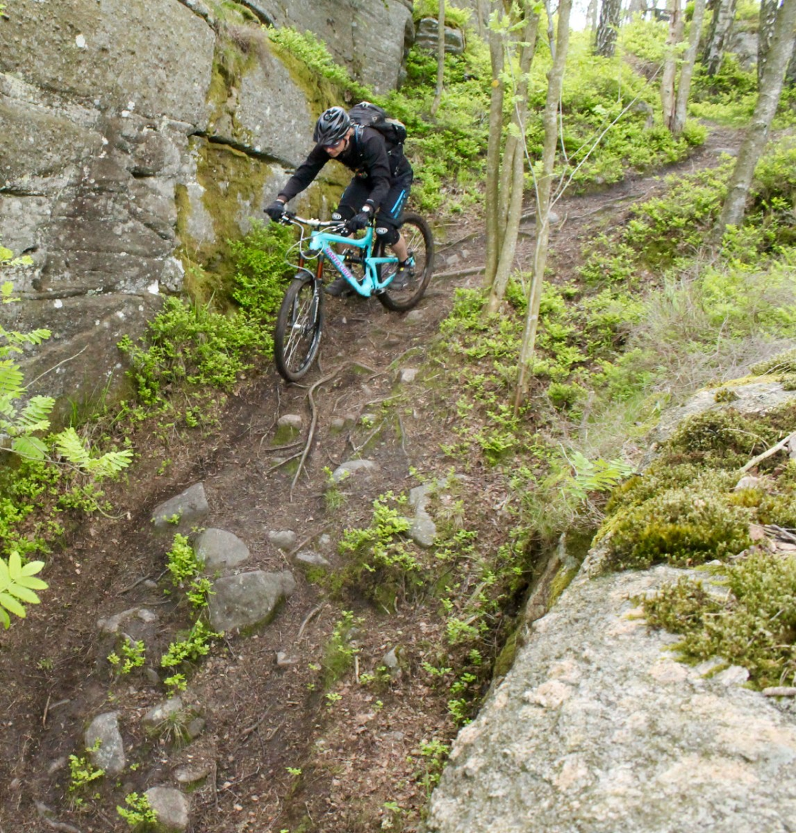 Leo riding the Ravine. Photo: Greg Heil.