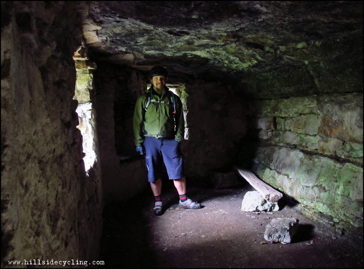 Yours truly hanging out in Lasses Cave. Photo: Leo Ranta.